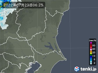 茨城県の雨雲の動き