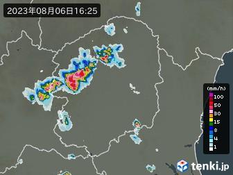 栃木県の雨雲の動き