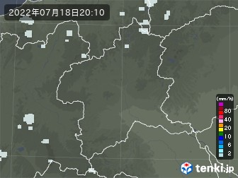 群馬県の雨雲の動き