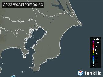 千葉県の雨雲の動き
