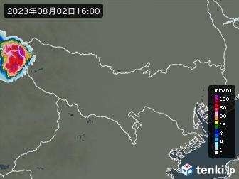 東京都の雨雲の動き(実況)