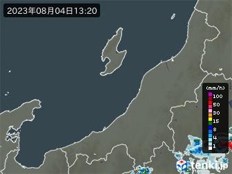 新潟県の雨雲の動き