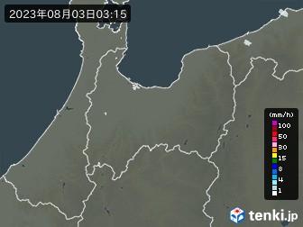 富山県の雨雲の動き