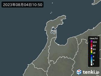 石川県の雨雲の動き