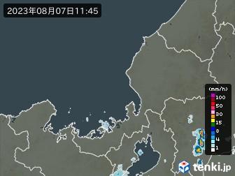 福井県の雨雲の動き
