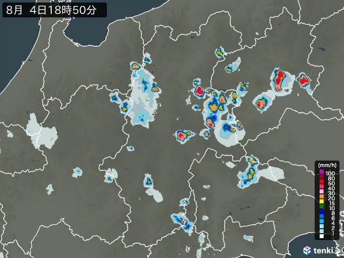 長野県の雨雲の動き