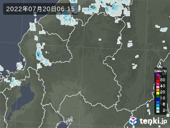 岐阜県の雨雲の動き