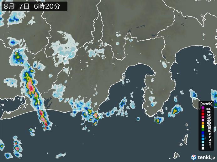静岡県の雨雲の動き