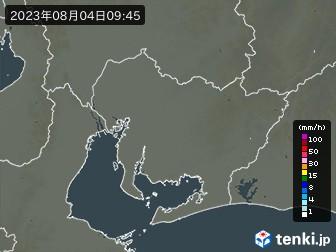 愛知県の雨雲の動き(実況)