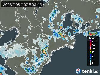 三重県の雨雲の動き