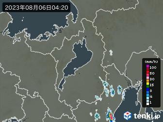 滋賀県の雨雲の動き