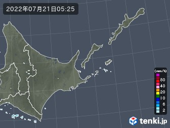 道東の雨雲の動き