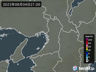 大阪府の雨雲の動き