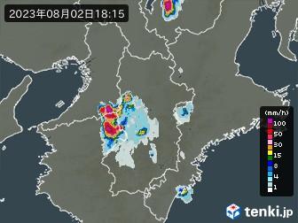 奈良県の雨雲の動き