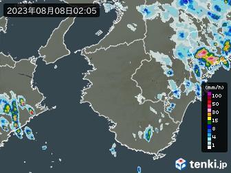 和歌山県の雨雲の動き