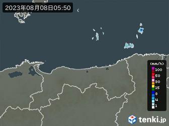 鳥取県の雨雲の動き