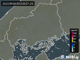 広島県の雨雲の動き