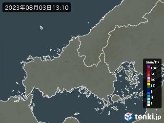 山口県の雨雲の動き