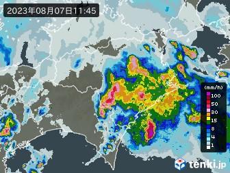 徳島県の雨雲の動き