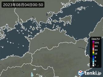 香川県の雨雲の動き