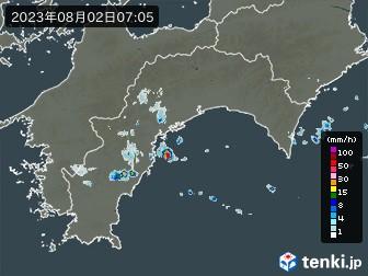 高知県の雨雲の動き