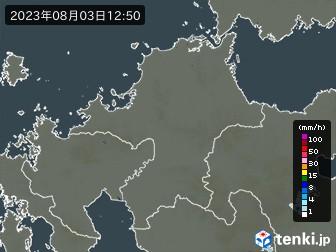 福岡県の雨雲の動き