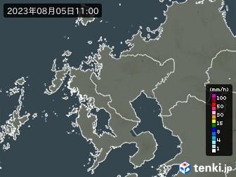 佐賀県の雨雲の動き