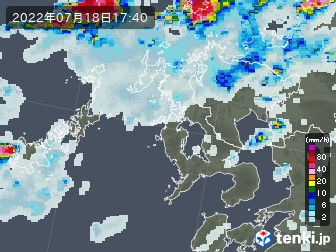 長崎県の雨雲の動き