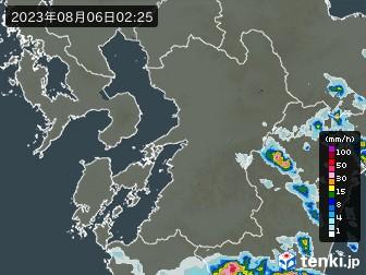 熊本県の雨雲の動き(実況)
