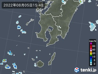 鹿児島県の雨雲の動き