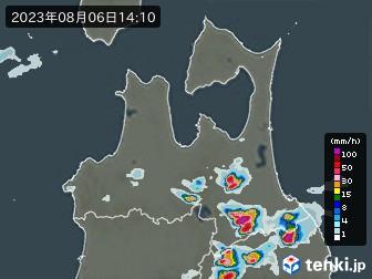 青森県の雨雲の動き(実況)