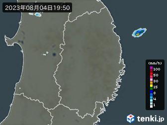 岩手県の雨雲の動き