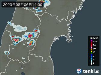 宮城県の雨雲の動き