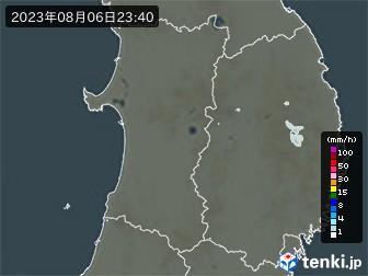 秋田県の雨雲の動き