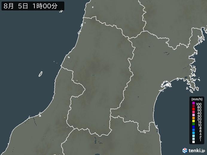山形県の雨雲レーダー