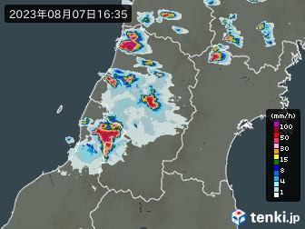 山形県の雨雲の動き