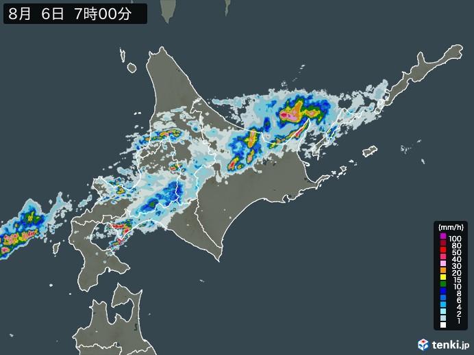 北海道地方の雨雲の動き(予報)