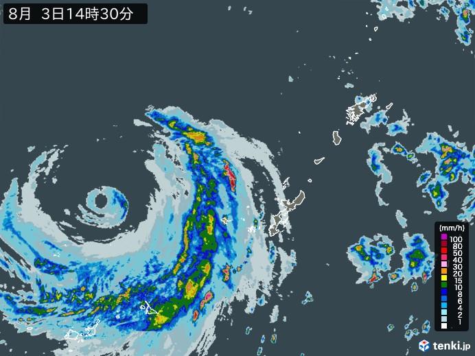 沖縄地方の雨雲の動き(予報)