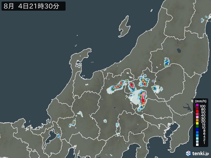 北陸地方の雨雲の動き(予報)
