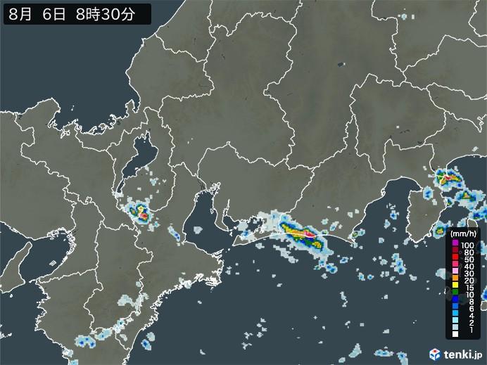 東海地方の雨雲の動き(予報)