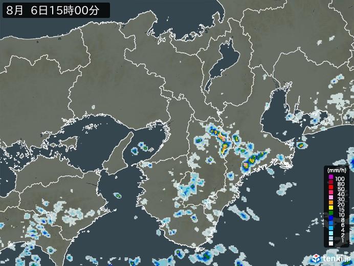 近畿地方の雨雲の動き(予報)