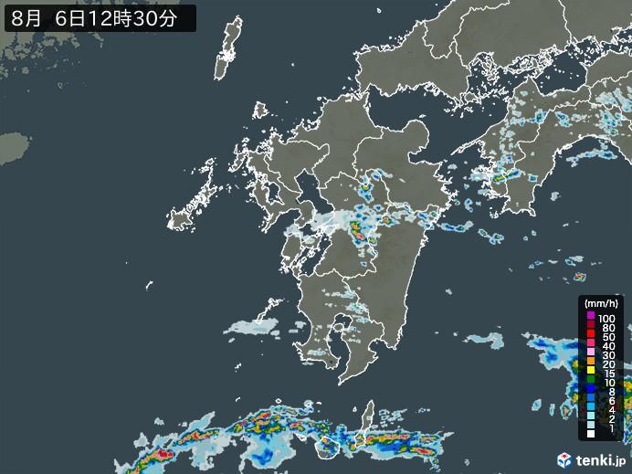 九州地方の雨雲の動き(予報)