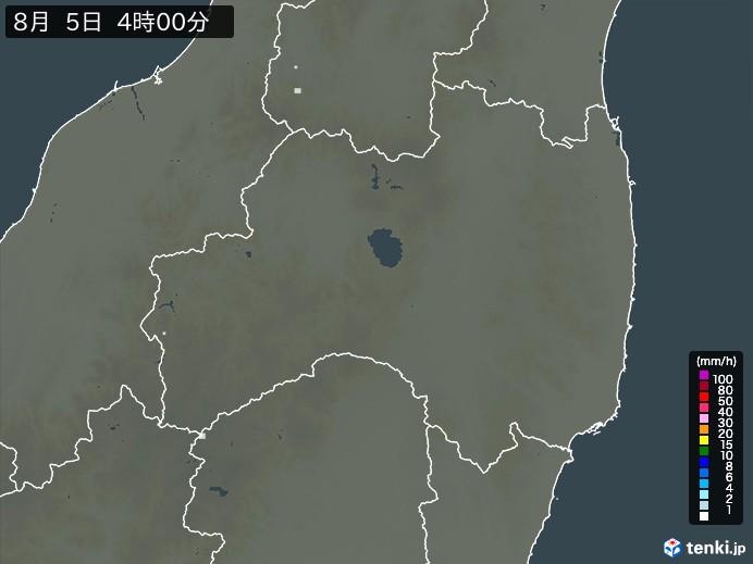 福島県の雨雲の動き(予報)