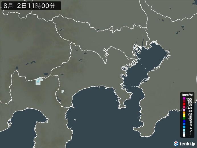 神奈川県の雨雲の動き(予報)