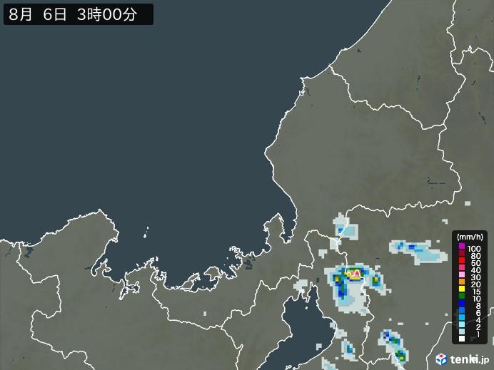 福井県の雨雲レーダー(予報)