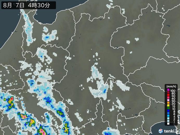 長野県の雨雲の動き(予報)