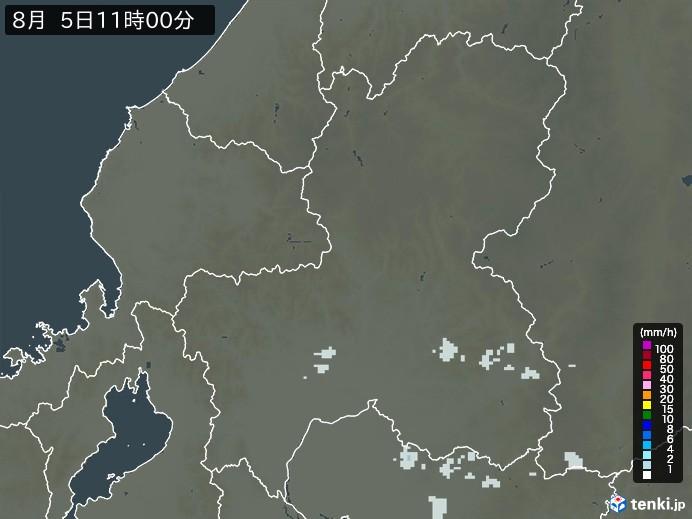 岐阜県の雨雲の動き(予報)