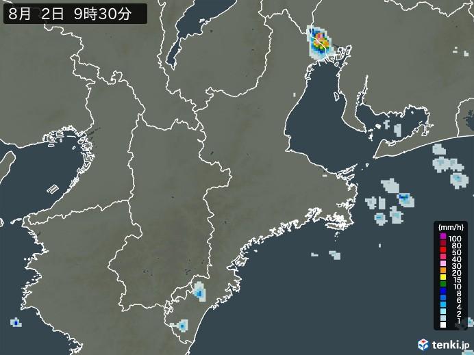 三重県の雨雲の動き(予報)