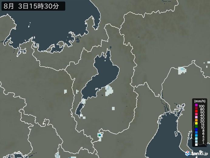 滋賀県の雨雲の動き(予報)