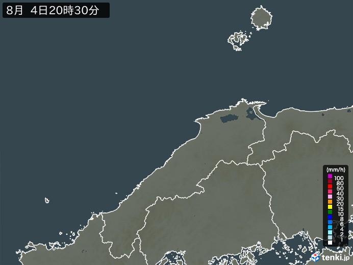 島根県の雨雲の動き(予報)